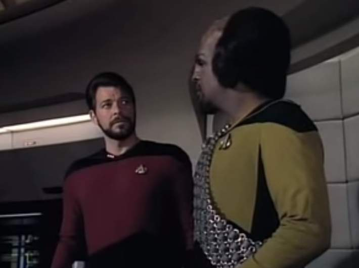 William Riker and Worf