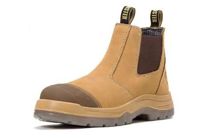 Rockrooster 6-Inch Steel Toe Slip-On Work Boots