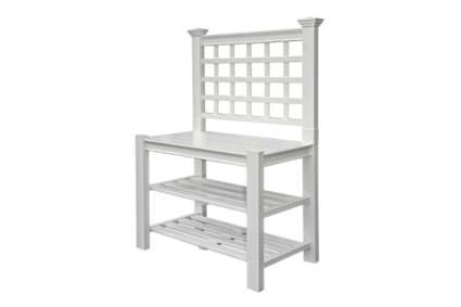 white PVC potting bench