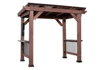 wooden grill gazebo