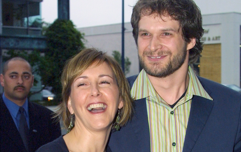"""Cynthia Stevenson and film creator Bryan Fuller attend the film premiere of """"Dead Like Me"""" at the Academy of Motion Pictures Arts and Sciences on June 19, 2003 in Beverly Hills, California."""