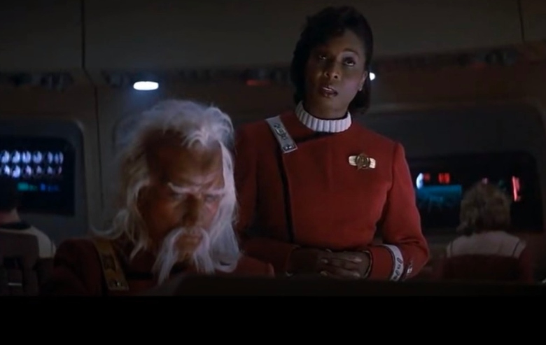 Madge Sinclair as the Captain of the USS Saratoga in Star Trek IV: The Voyage Home