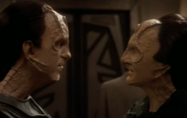 Two Cardassians from the show Star Trek: Deep Space Nine