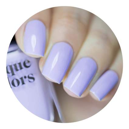 Lavender blue nail polish