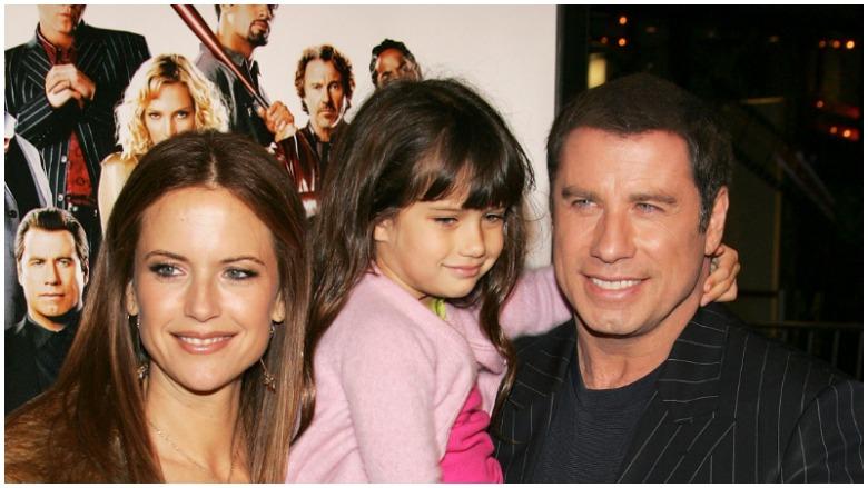 Ella Travolta with her parents