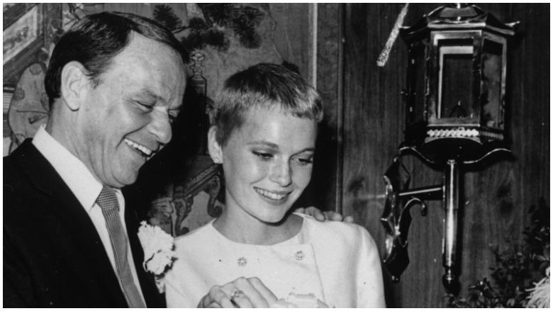 Frank Sinatra and actress Mia Farrow