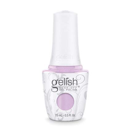 Light pinky purple gelish nail polish