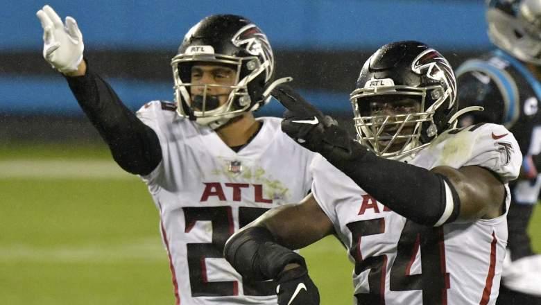 Falcons Foye Oluokun and Isaiah Oliver