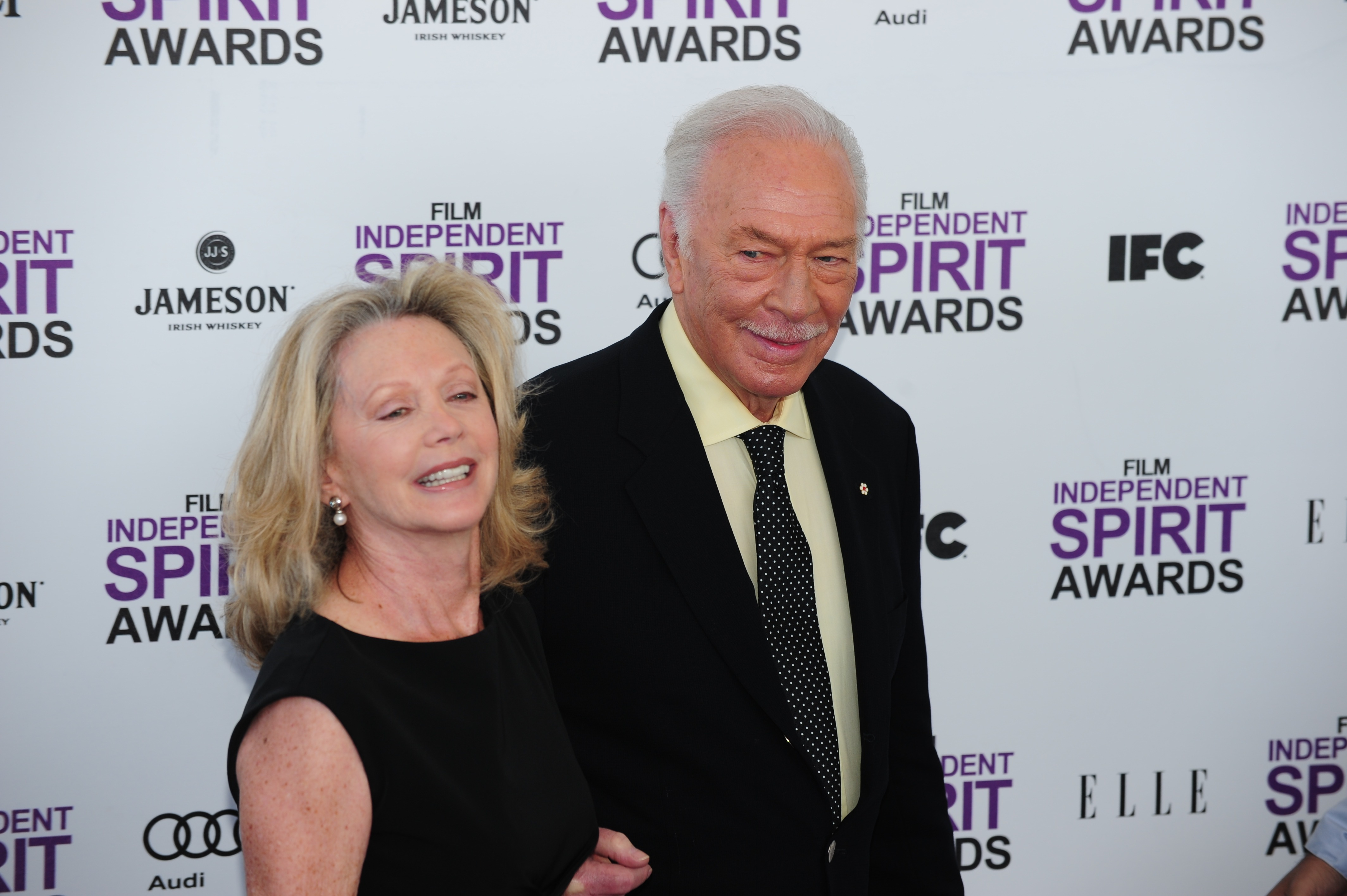 Actor Christopher Plummer (R) and actres