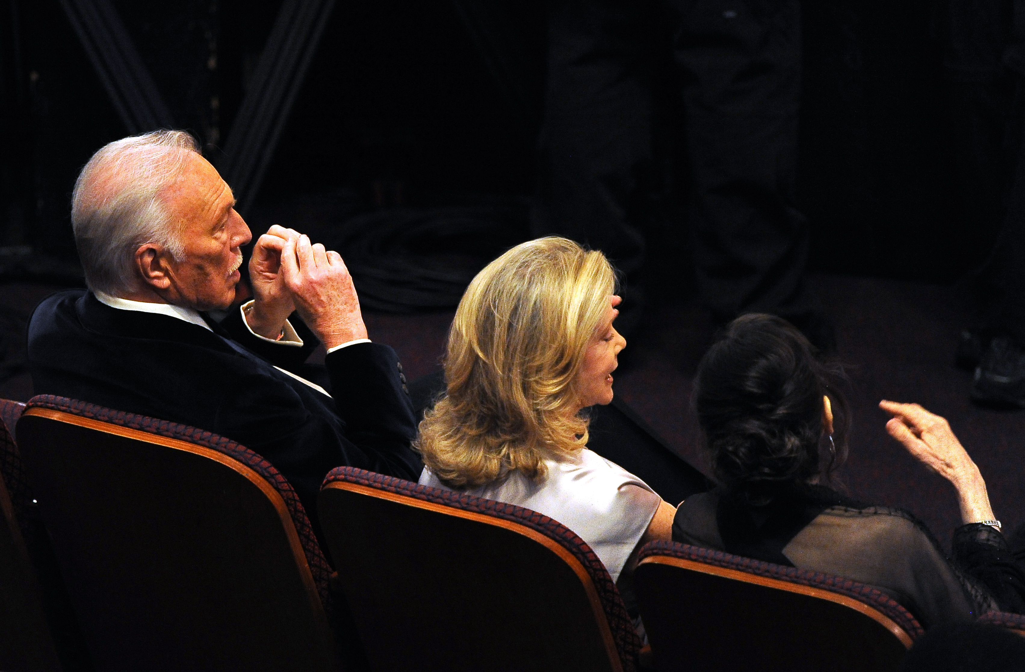Actor Christopher Plummer and his wife E