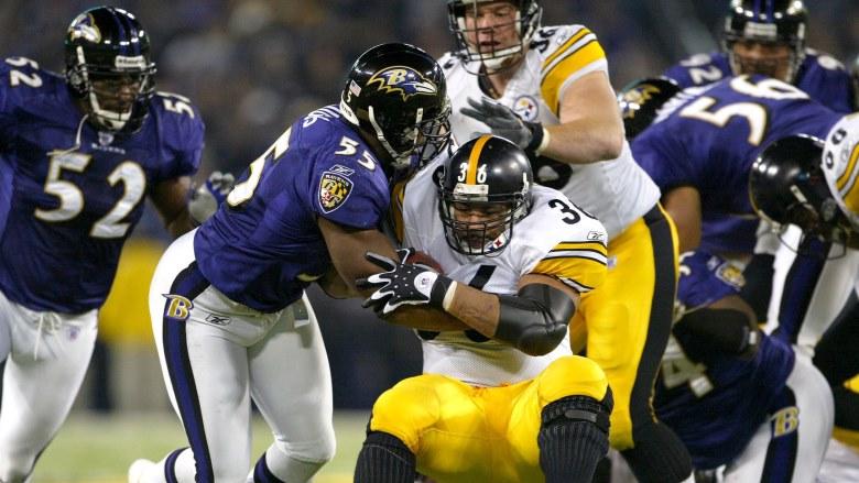 Jerome Bettis vs Ravens