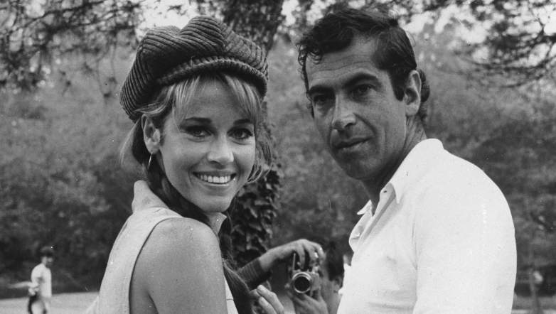 October 1966: American actress Jane Fonda with her husband, the French film director Roger Vadim.