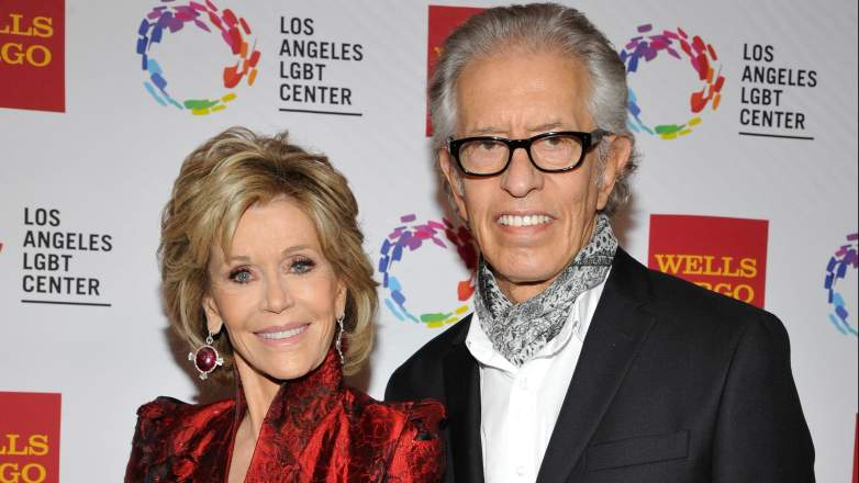 Honoree Jane Fonda and music producer Richard Perry arrive at the Los Angeles LGBT Center
