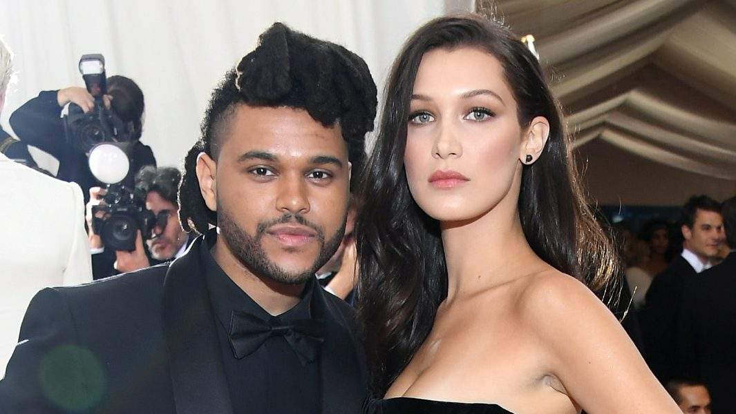 "The Weeknd (L) and Bella Hadid attend the ""Manus x Machina: Fashion In An Age Of Technology"" Costume Institute Gala"