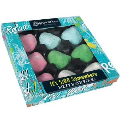 Colorful bath rock set