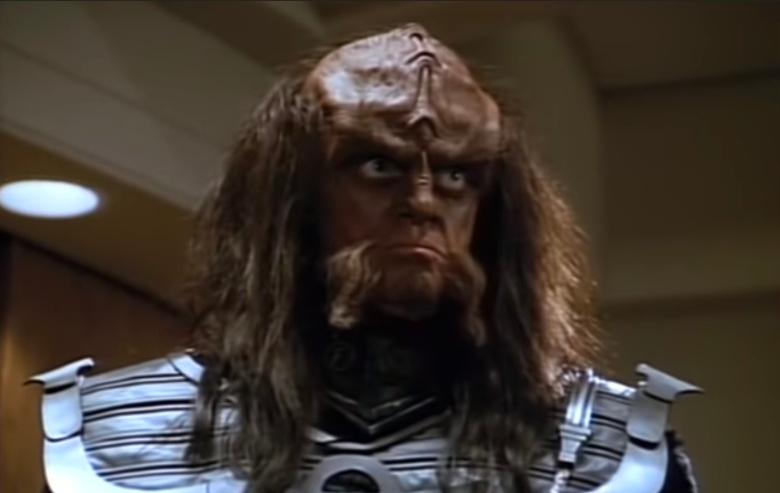 Robert O'Reilly as Gowron on Star Trek The Next Generation
