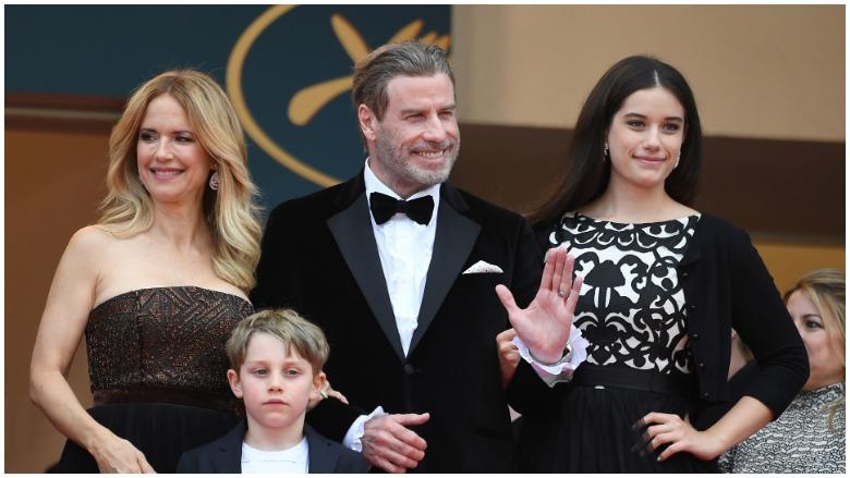 John Travolta and his family