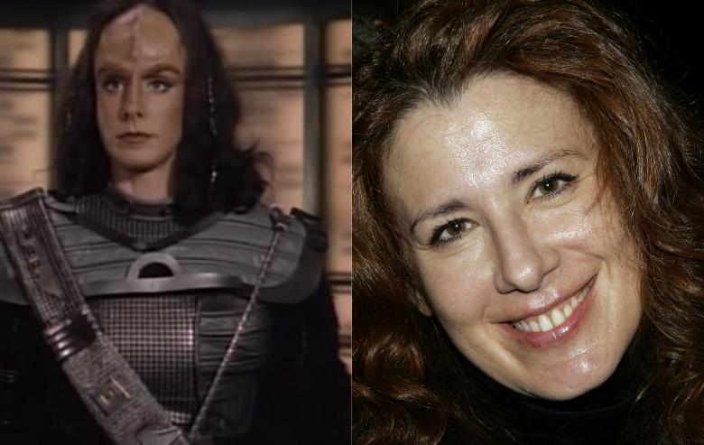 Suzie Plakson as K'Ehleyr in Star Trek The Next Generation and headshot of Suzie Plakson