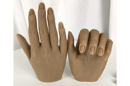 Two silicone mannequin hands