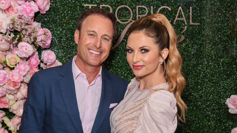 Chris Harrison and Lauren Zima at the launch party for his Seagram's Tropical Rosè.