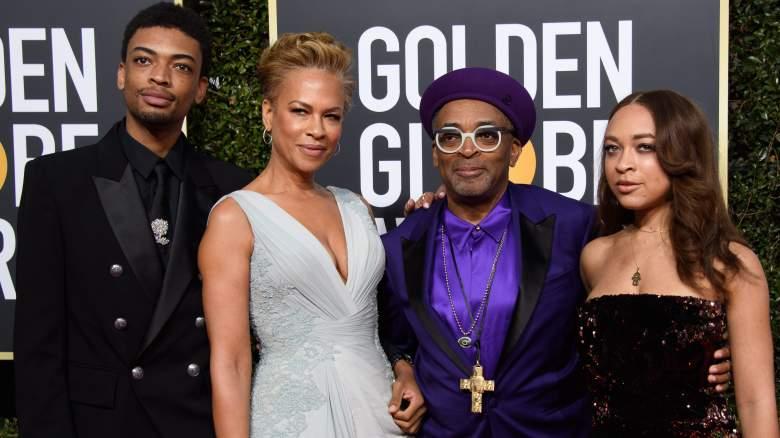 Jackson Lee, Tonya Lewis Lee, Spike Lee, and Satchel Lee arrive at the 76th Annual Golden Globe Awards