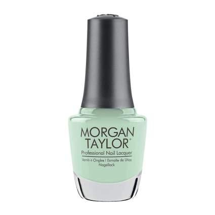 mint nail polish bottle from Morgan Taylor