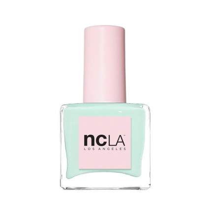Light mint green polish in square NCLA bottle