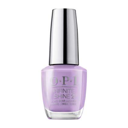 OPI nail polish bottle in light lilac purple