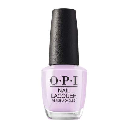 OPI nail polish in a very light pastel lavender