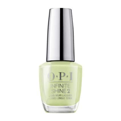 Light yellowish green nail polish by OPI