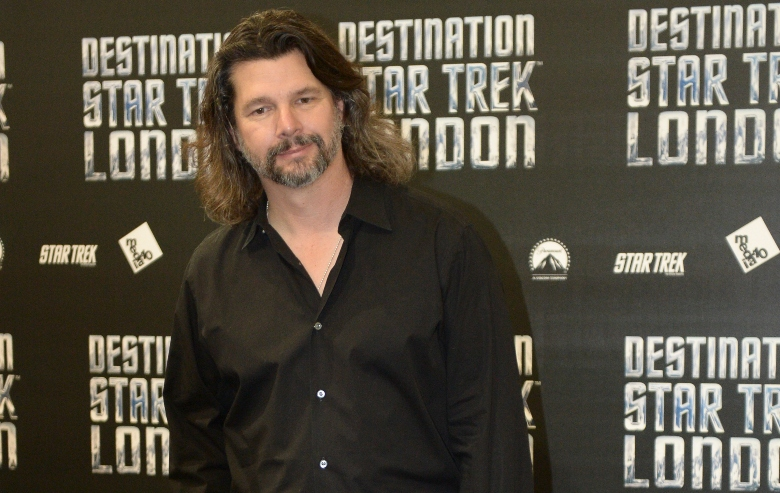 Ronald D Moore attends a photocall at Destination Star Trek London at ExCel on October 19, 2012 in London, England.