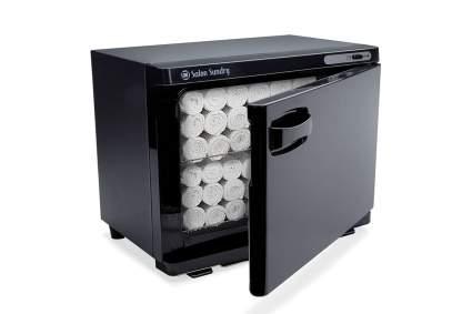 Black towel cabinet for spas