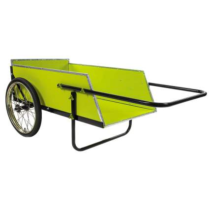 wood and galvanized garden cart