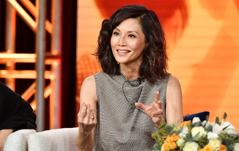 Tamlyn Tomita of Asian Americans speaks during the PBS segment of the 2020 Winter TCA Press Tour at The Langham Huntington, Pasadena on January 10, 2020 in Pasadena, California.
