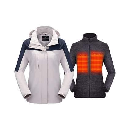 Venustas Women's 3-in-1 Heated Jacket and Fleece