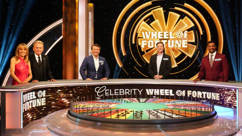 Vanna White, Pat Sajak, Robert Herjavec, Chris Harrison and Alfonso Ribeiro on 'Celebrity Wheel of Fortune'