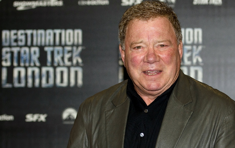 """William Shatner arrives at the opening of """"Destination Star Trek London"""", first official Star Trek event in the UK in a decade, at the ExCel centre in east London on October 19, 2012."""