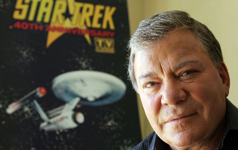 "William Shatner promotes the ""Star Trek"" 40th Anniversary on the TV Land network at the Four Seasons hotel August 9, 2006 in Los Angeles, California. Episodes of the show air September 8"