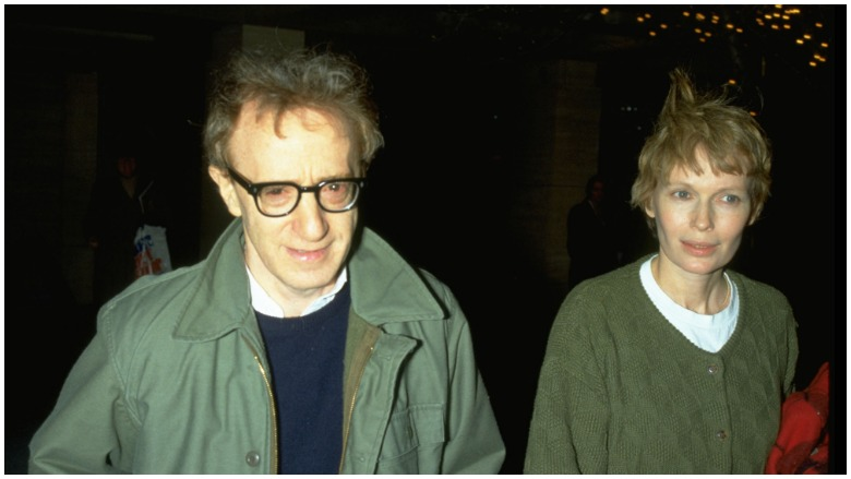 Woody Allen and Mia Farrow.
