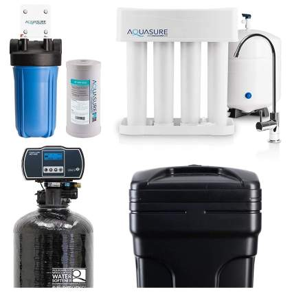 Aquasure Whole House Water Filtration and Softener Bundle
