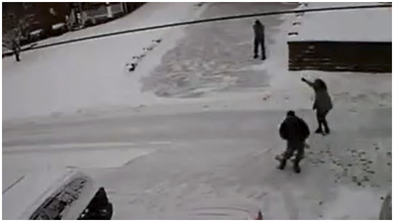 Jeffrey Spaide Snow Shoveling Shooting Caught On Video Heavy Com