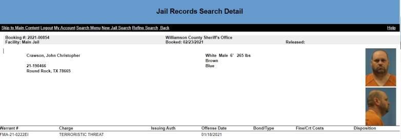 john crawson jail record