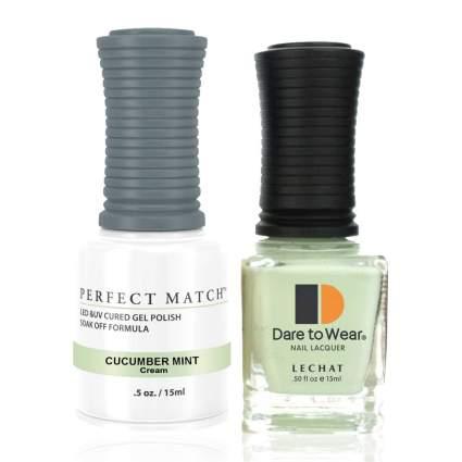 Cucumber Mint LeChat gel and regular polish duo