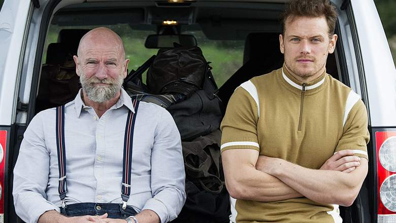 Clanlands filming at Loch Awe with Sam Heughan and Graham McTavish.