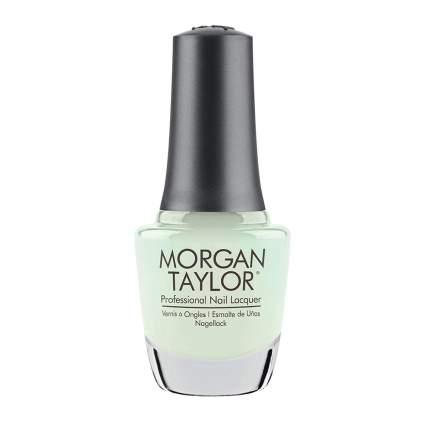 Light pastel sage Morgan Taylor nail polish