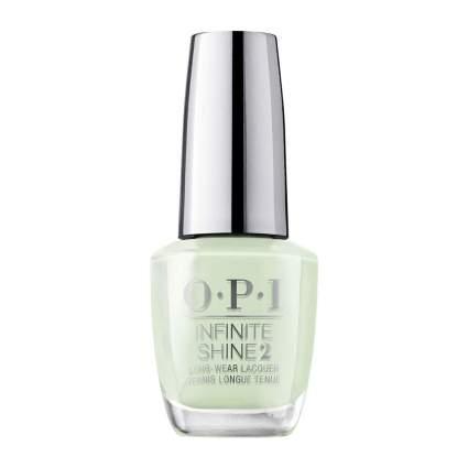 Light baby sage green OPI nail polish