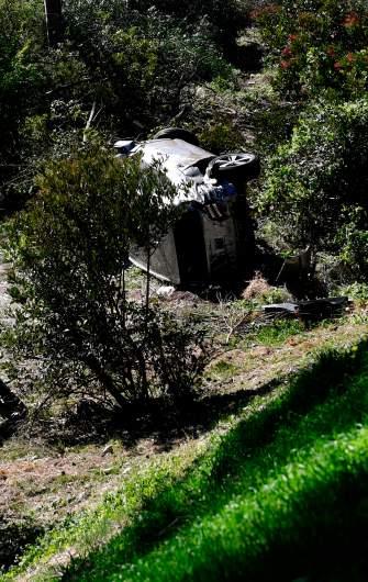 photos tiger woods crash