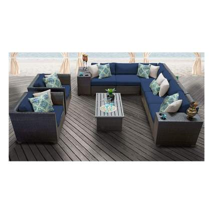 11 piece patio rattan furniture set