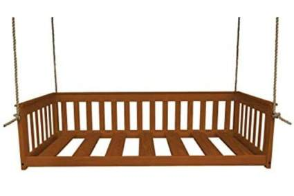 A&L Furniture VersaLoft Amish-Made Pine Twin Mission Swingbed