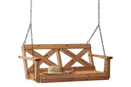 Backyard Discovery Farmhouse Cedar Porch Swing
